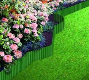 Bordures plastique verte 20 cm x 9 mètres pas chère kingmateriaux
