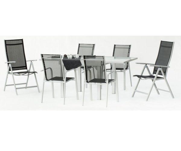 SET PISALO TABLE EXTENSIBLE 4 FAUTEUILS + 2 FAUTEUILS MULTIPOSITIONS