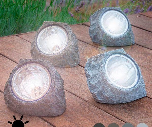 Galets décoratifs lumineux pour jardin petit prix