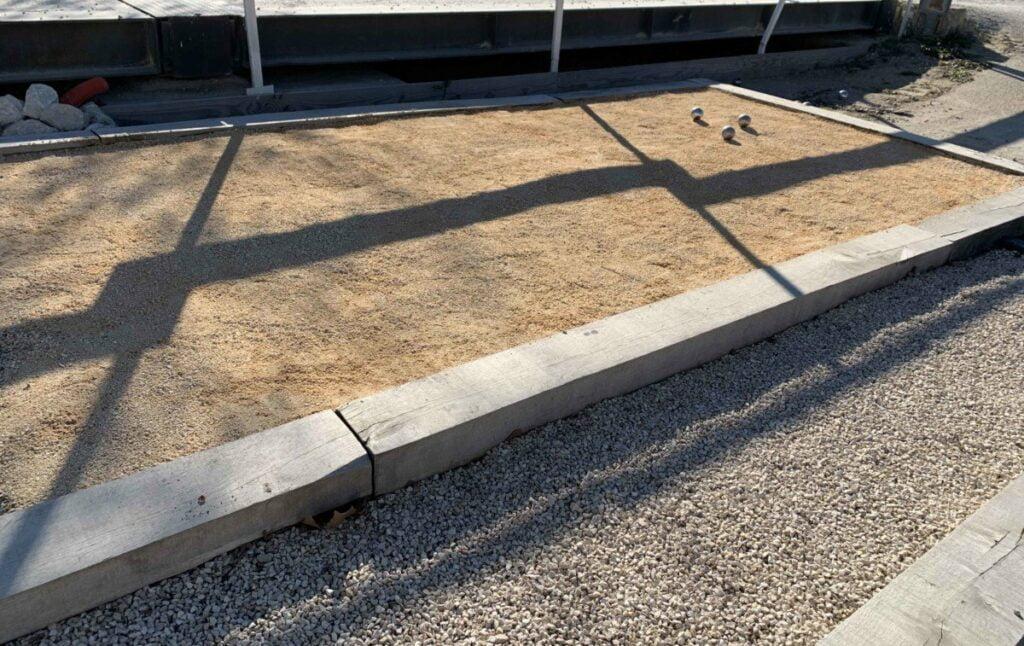 sable pour terrain de pétanque ocre